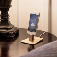 Gold iPhone dock