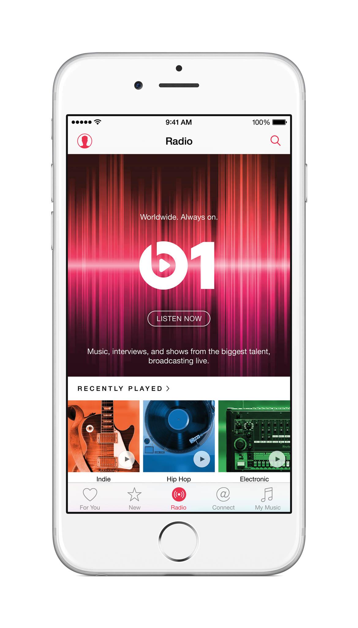 Apple Music Radio on iPhone