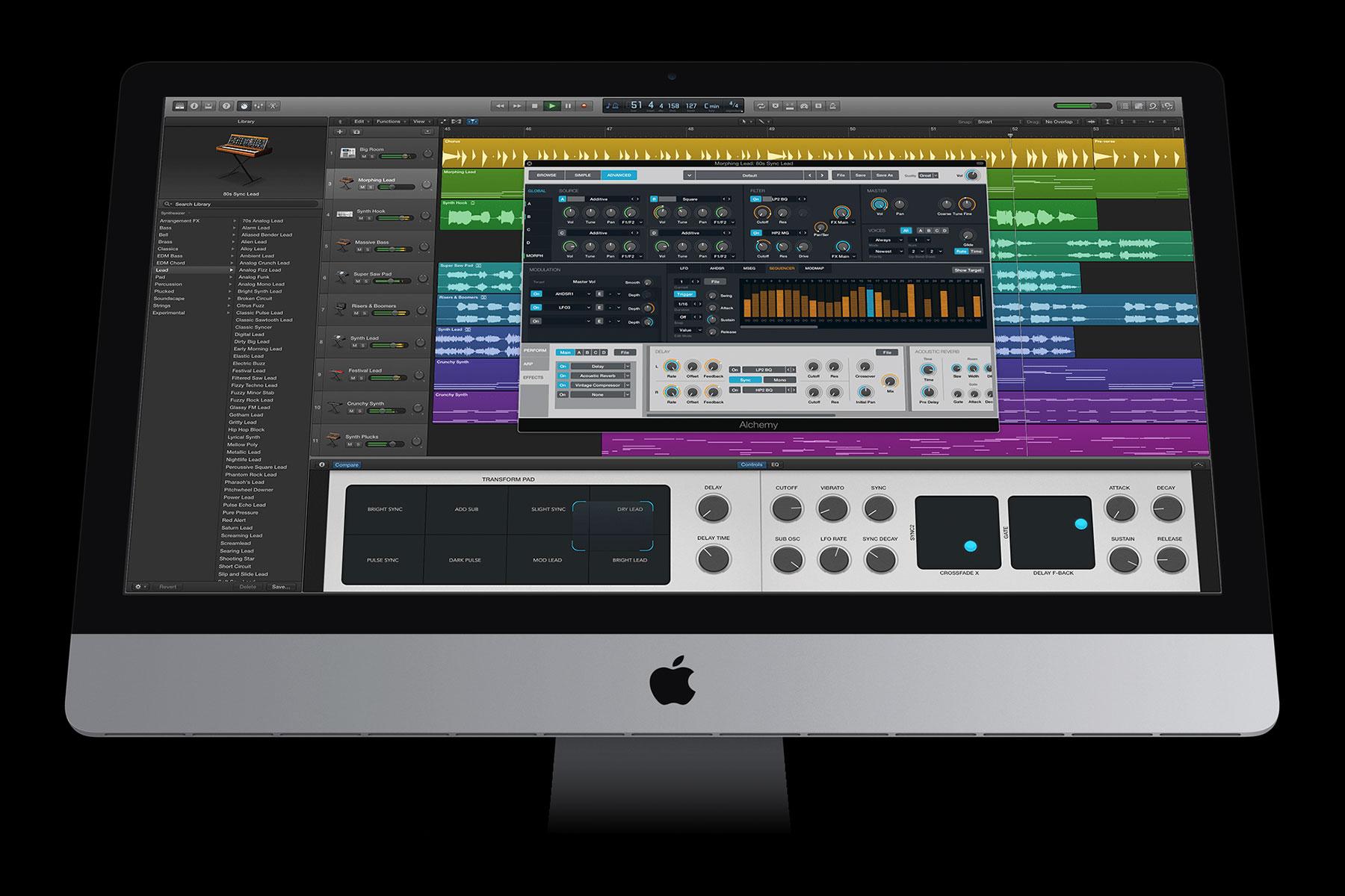 Logic Pro X Alchemy Synths iMac