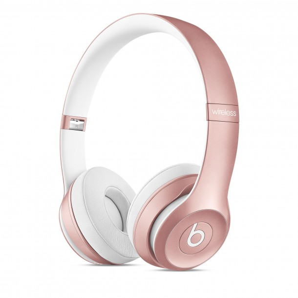 Beats Solo2 Wireless On-Ear Headphones Rose Gold