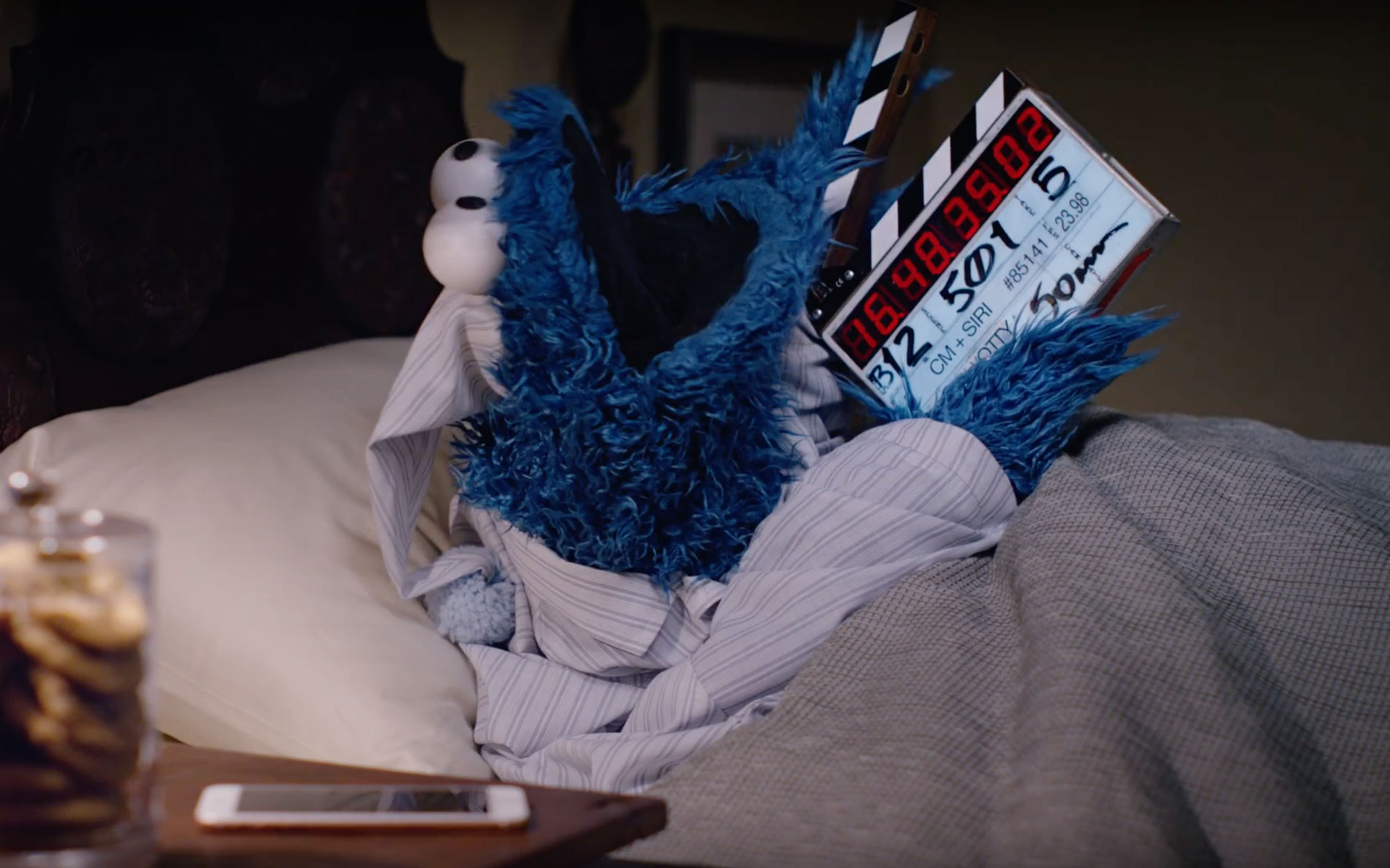 Cookie Monster Apple Behind The Scenes