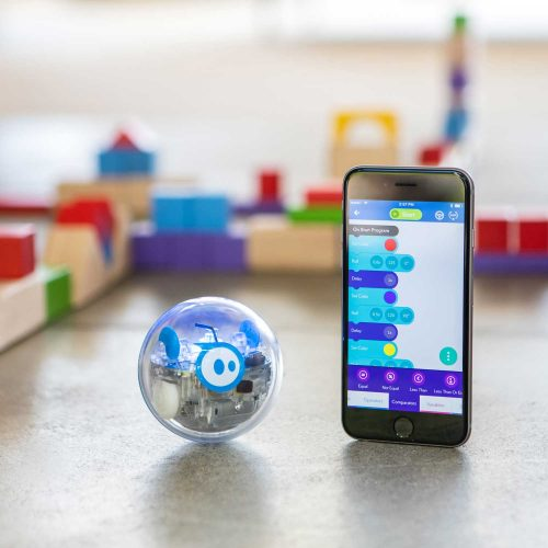 SPRK Robotic Ball with iPhone