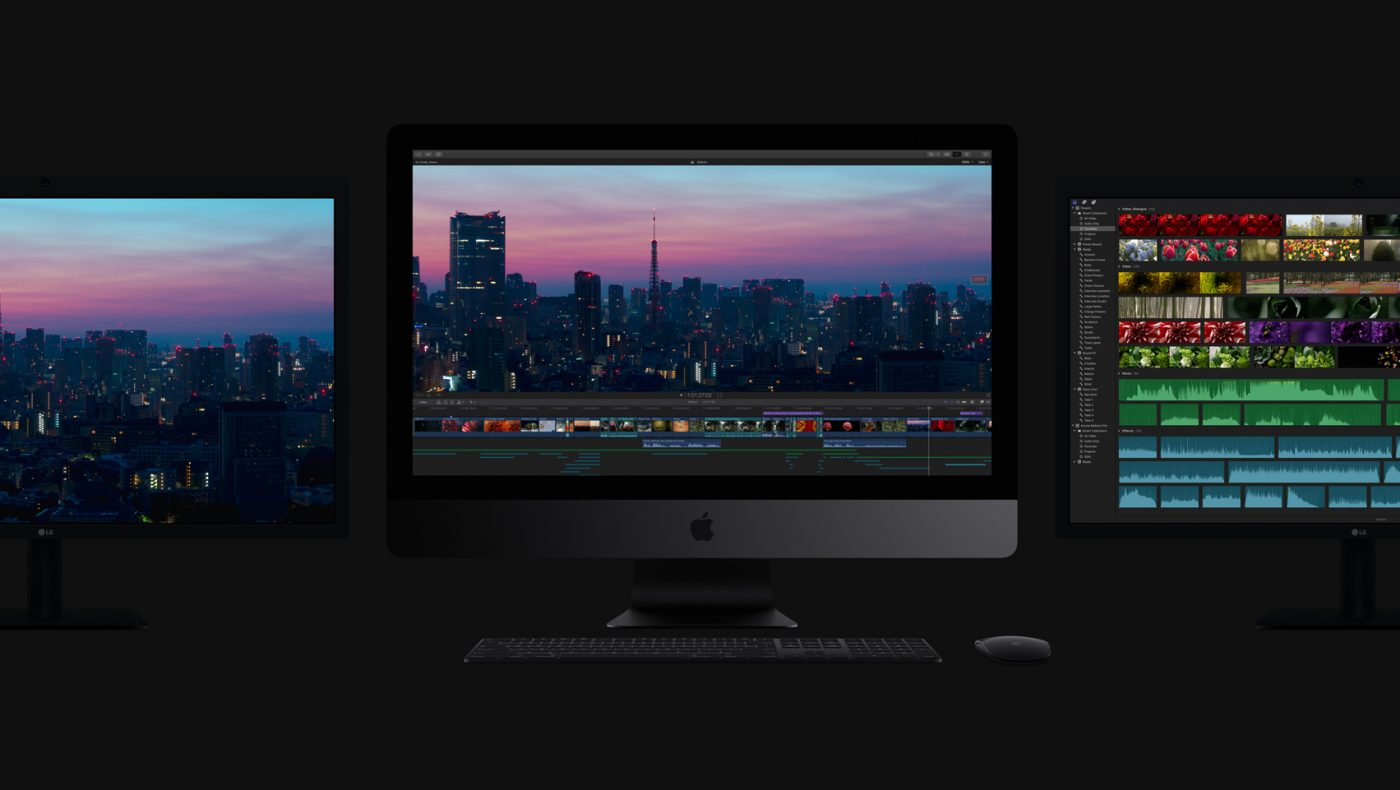 New 2017 Apple iMac Pro with Monitors