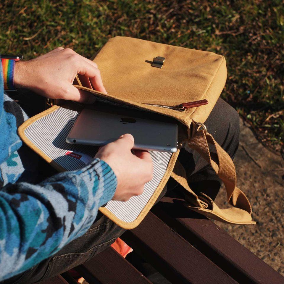 Toffee Osaka Satchel Bag with iPad