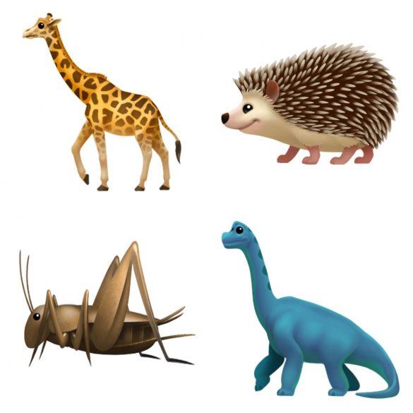 Apple iOS 11 emoji update 2017 animals