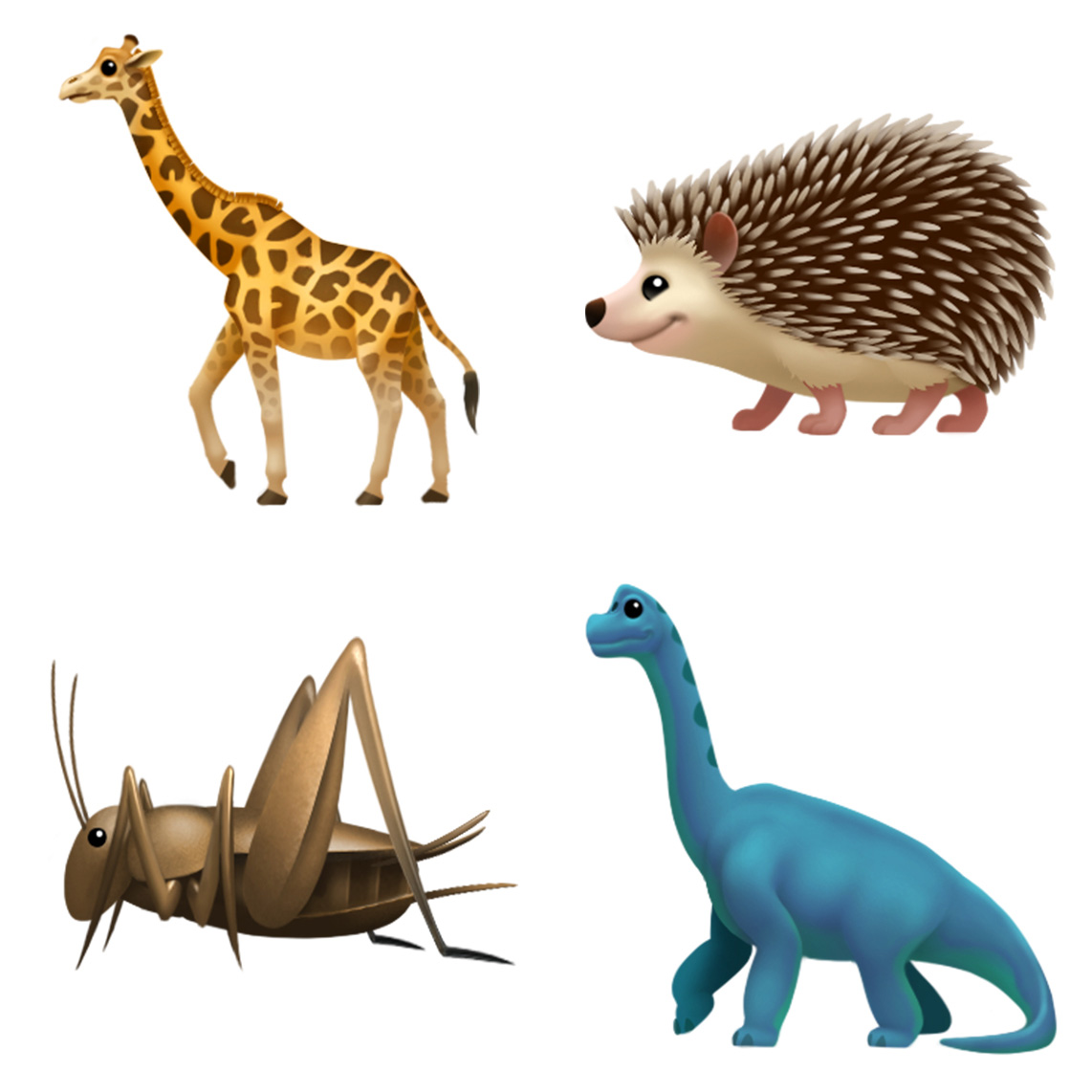 Apple iOS 11 emoji update 2017 animals