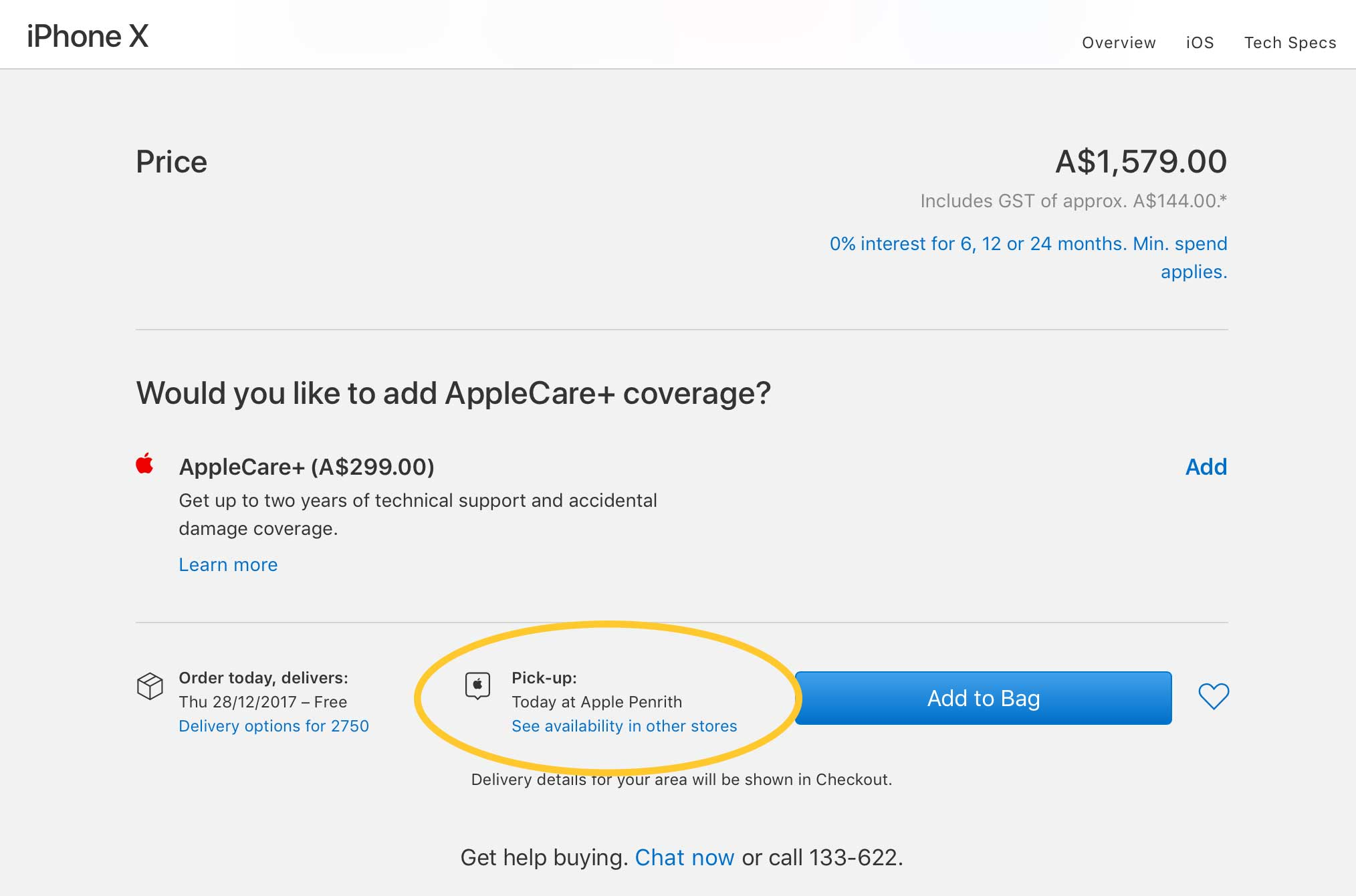 Apple online iPhone X Order