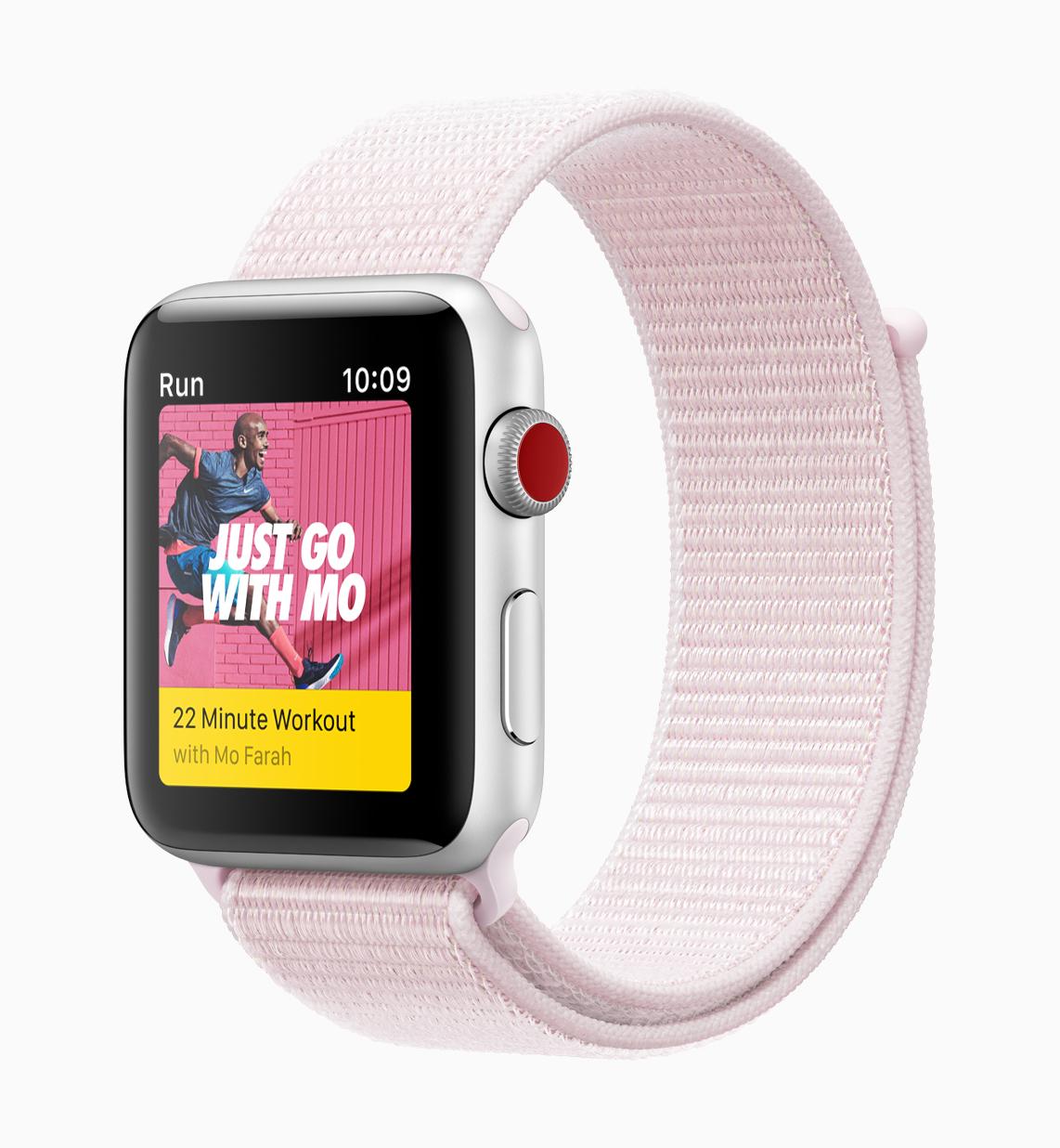 Apple Watch Series 3 Nike sports pink
