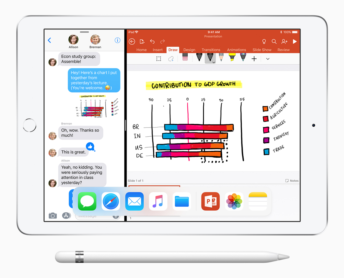New iPad 9-7-inch Split Screen ios11