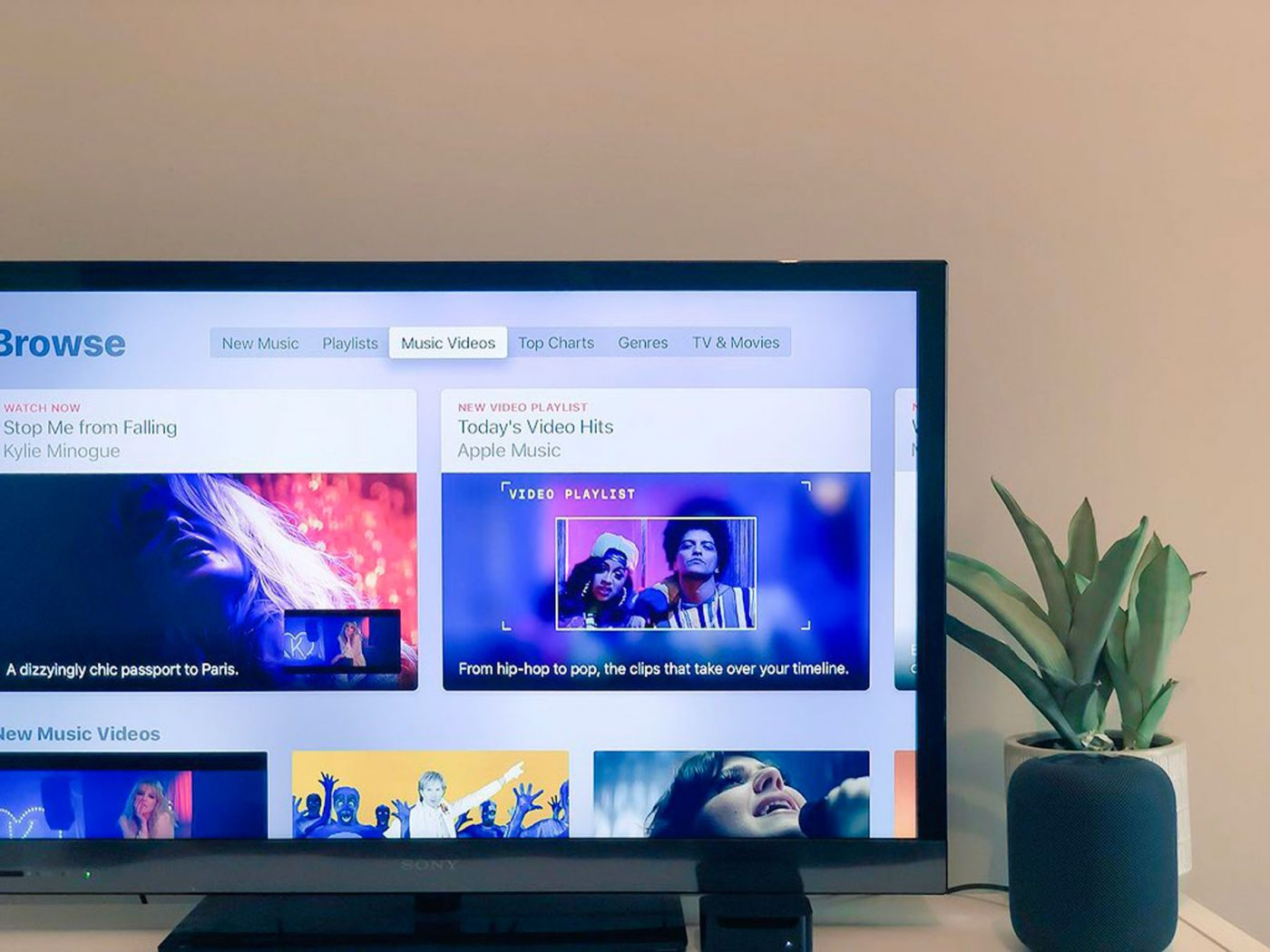 Apple Music Video Streaming With Apple TV 4K and HomePod