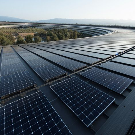 Apple Renewable Energy Earth Day Solar Panels Apple Park