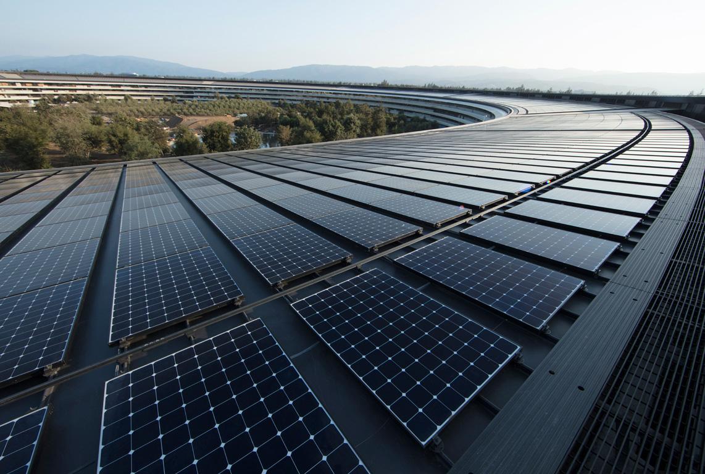 Apple Renewable Energy Earth Day Solar Panels Apple Park