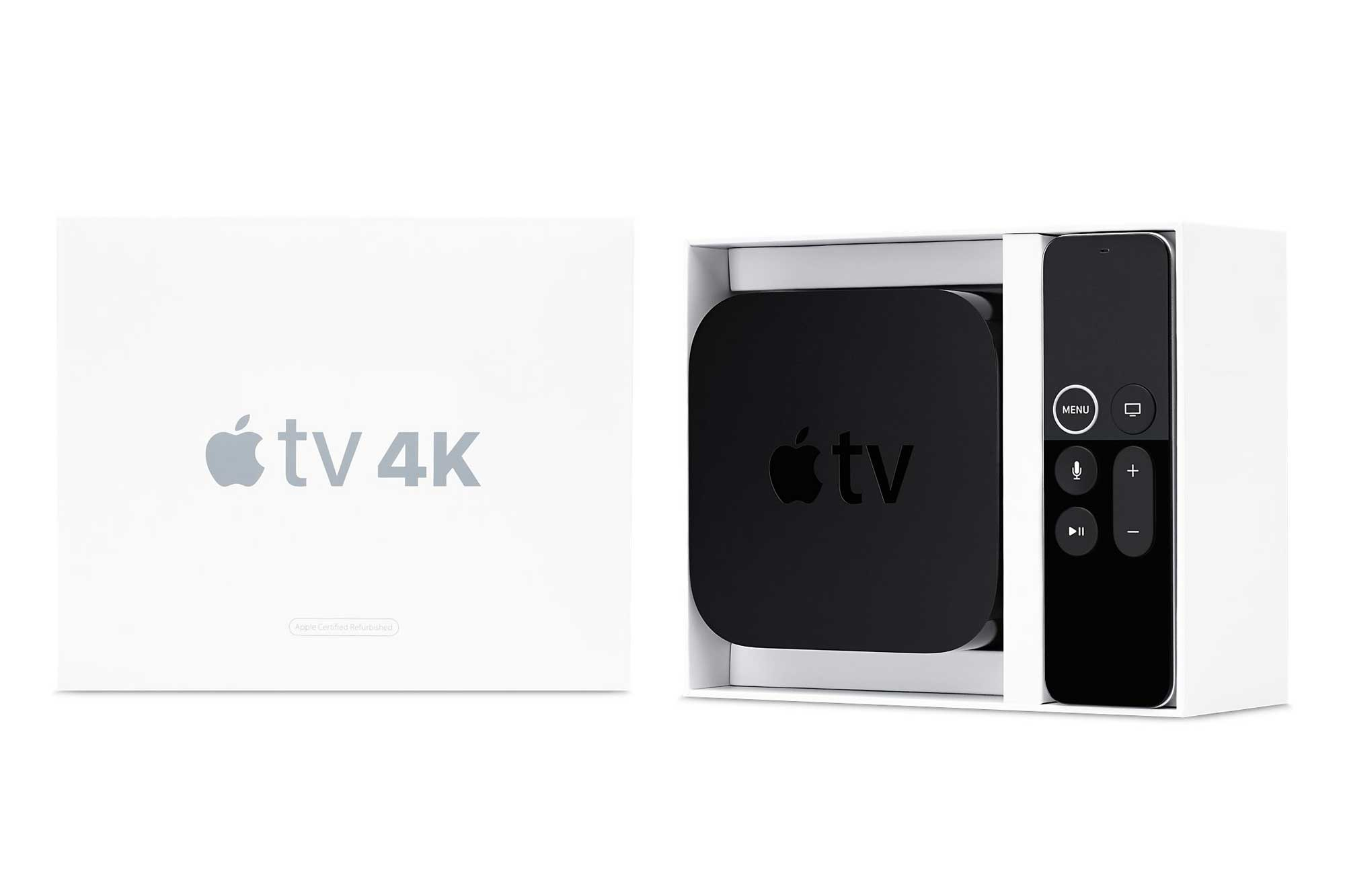 Apple TV 4K Certified Refurbished Model in White Box