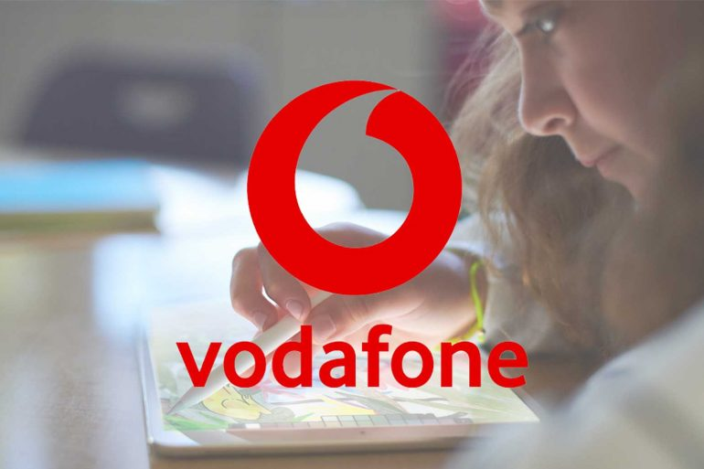 New 2018 iPad with Vodafone Australia logo