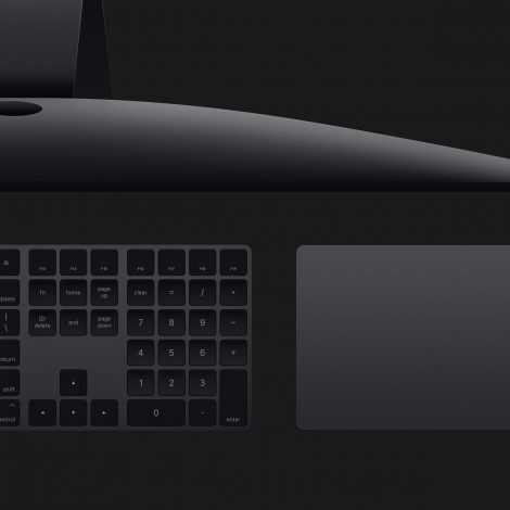 iMac Pro with Space Grey Keyboard and Magic Trackpad 2
