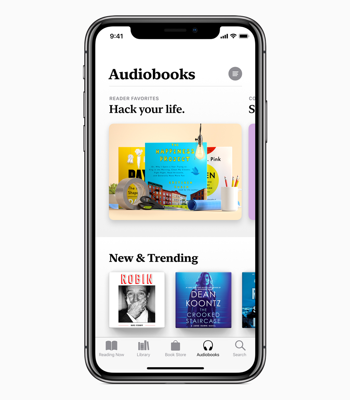 Apple Books App in AudioBooks Tab on iPhone X