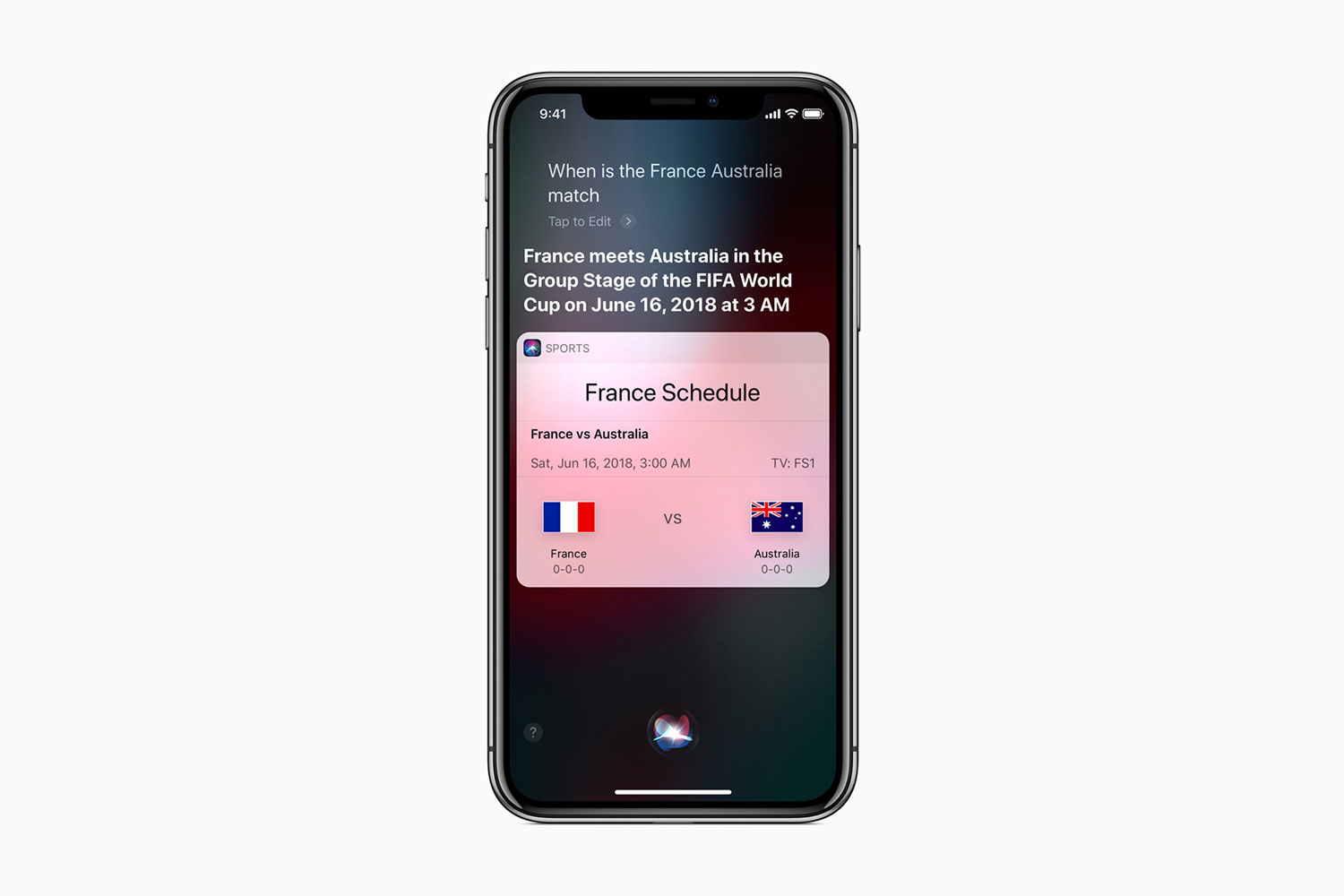 FIFA World Cup Siri on iPhone X