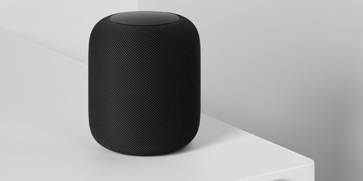 Apple HomePod in Black on table