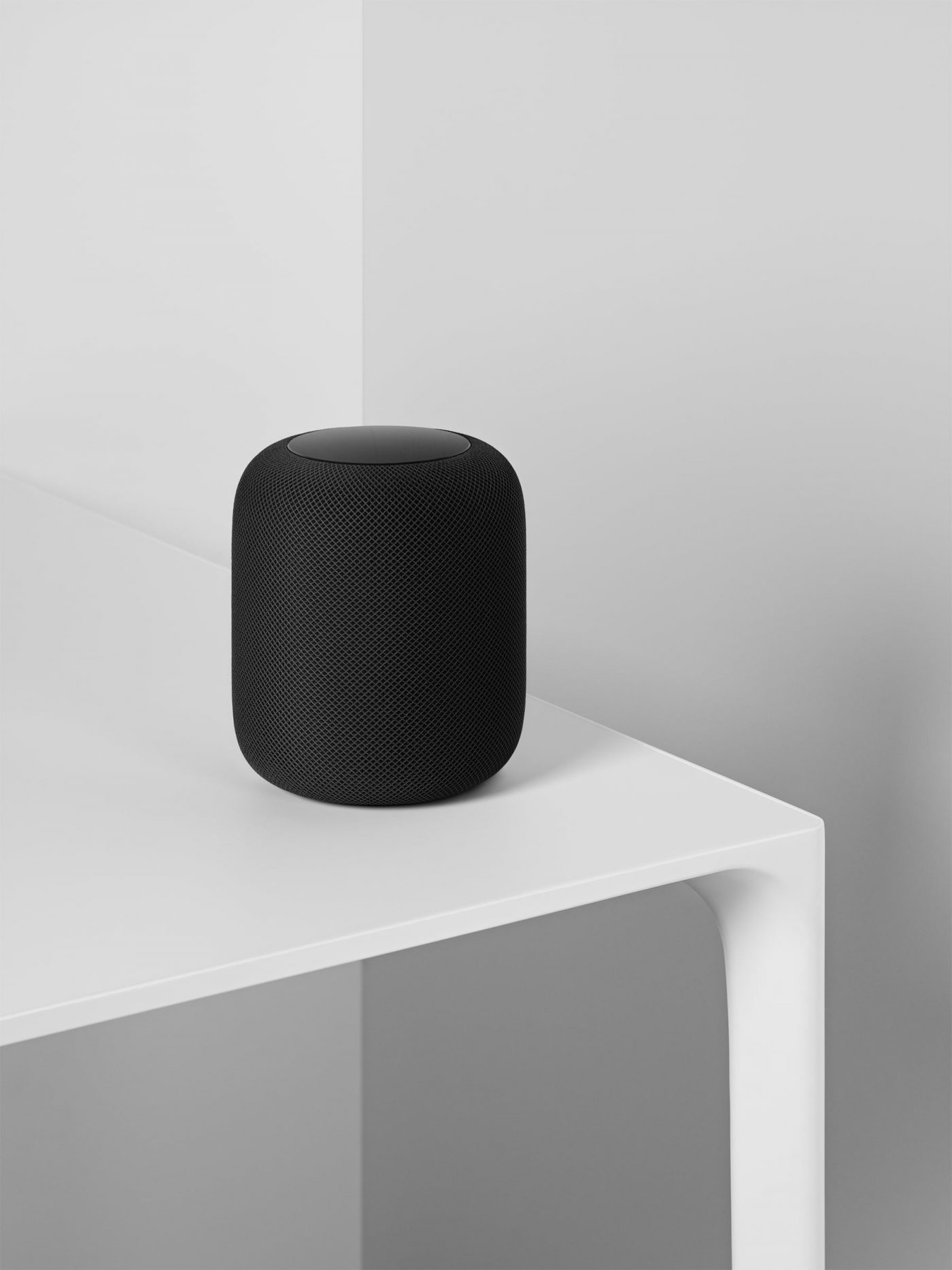 Apple HomePod in Black on table