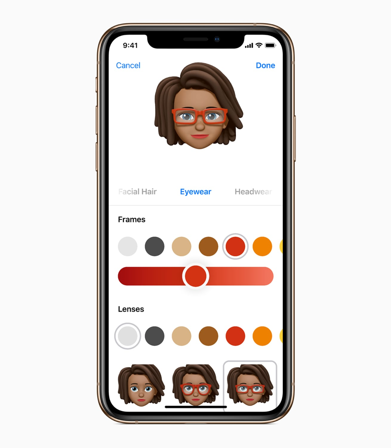 iOS 12 iPhone X memoji customisation