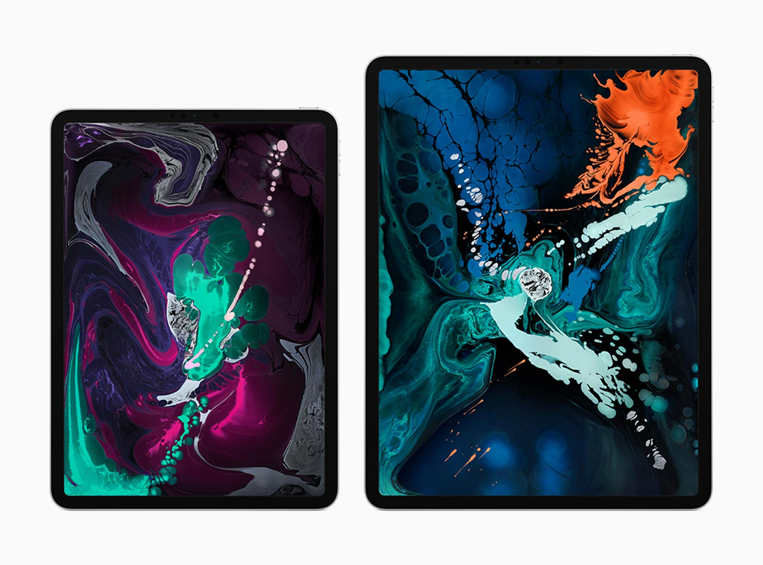 2018 iPad Pro 11 inch and 12 inch side by side