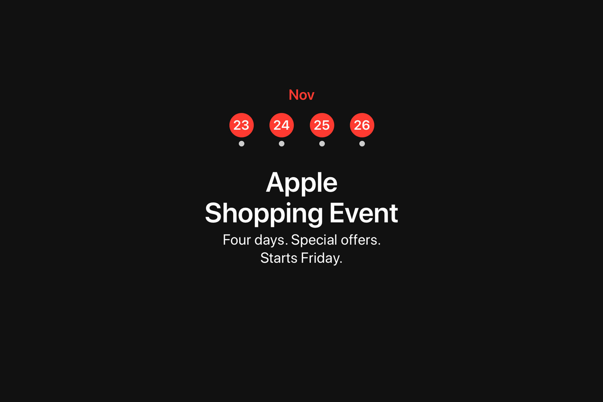 apple announces 4 day shopping event during black friday and cyber monday mac prices australia. Black Bedroom Furniture Sets. Home Design Ideas