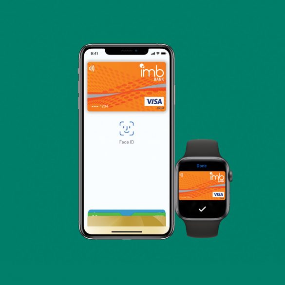 IMB Bank Apple Pay iPhone and Apple Watch