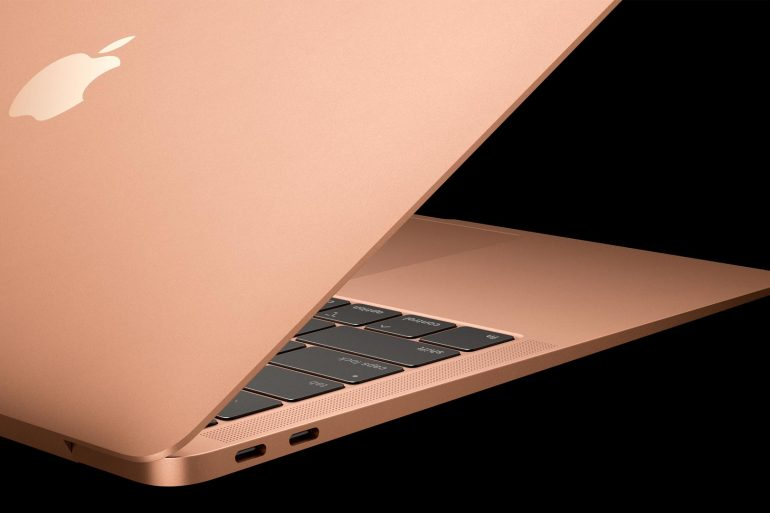 New MacBook Air 2018 In Gold