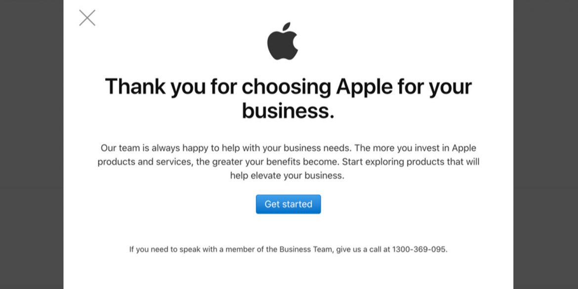 Apple-Business-Store-Account-Creation-Thankyou