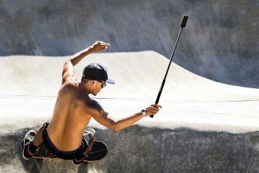 Insta360-One-X-Camera-Filming-on-Skateboard