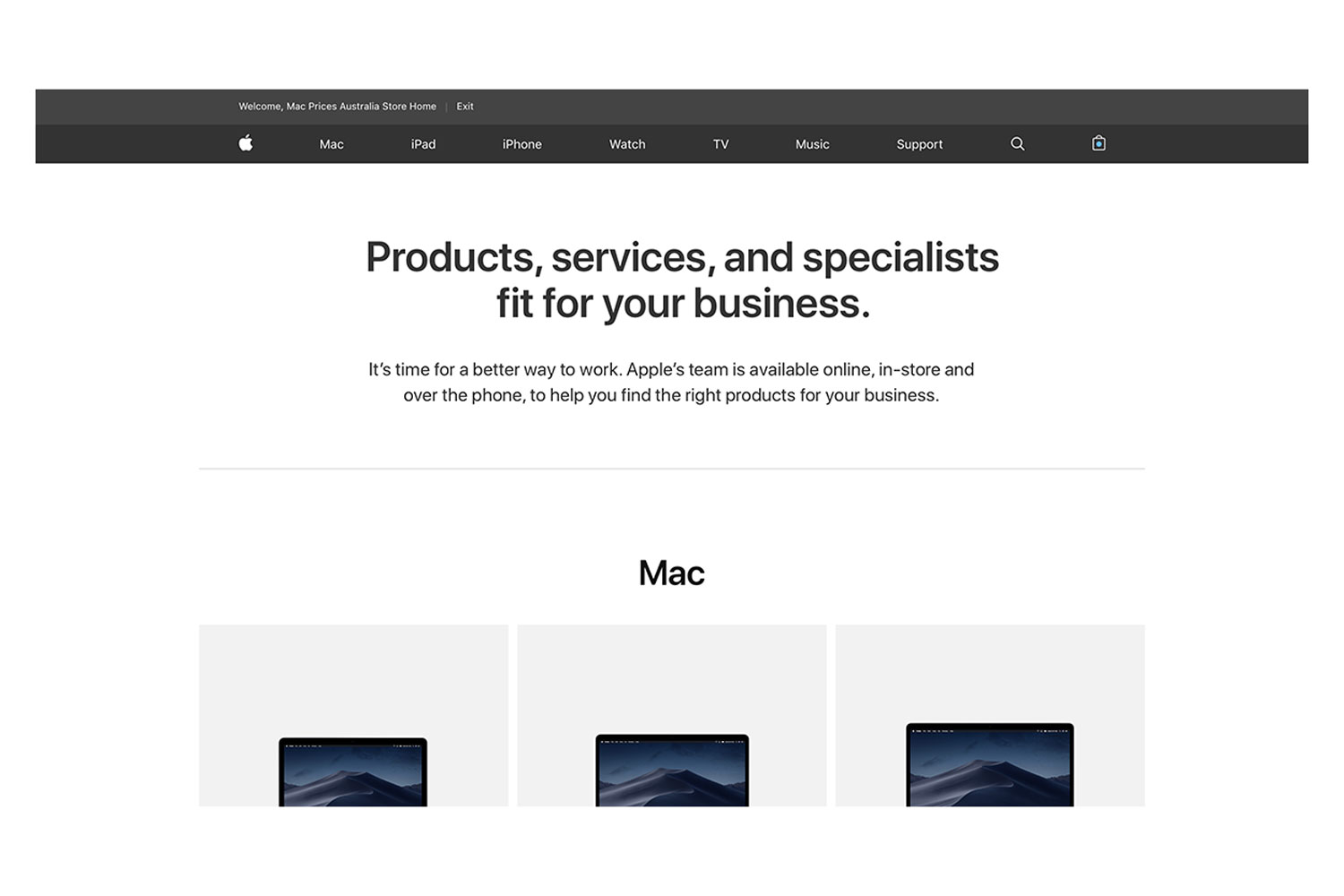 Creating an Apple Business Account Shop Online
