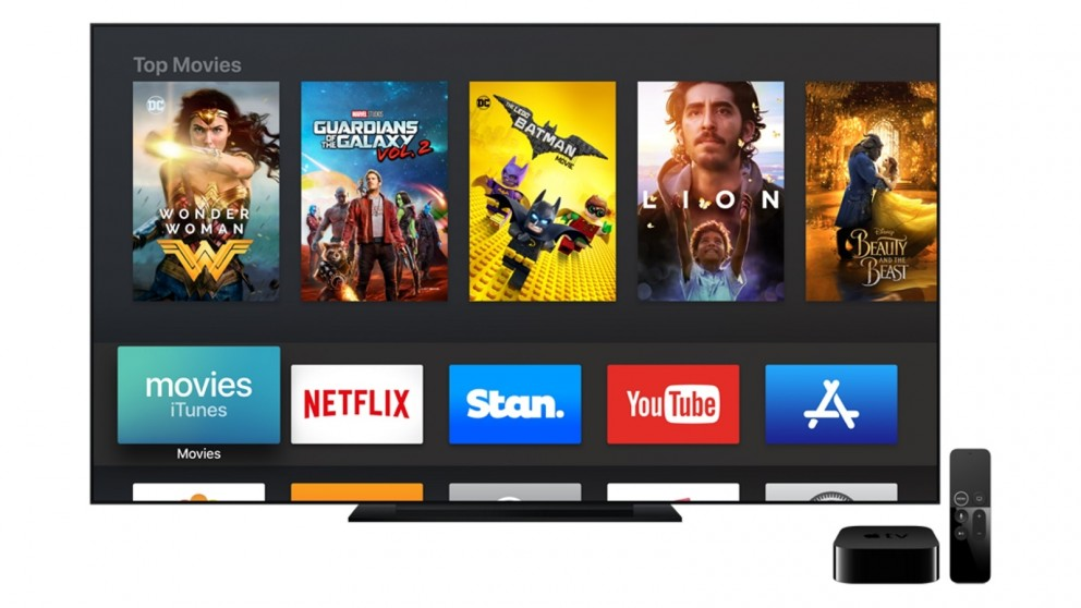 Apple TV 4K with TV