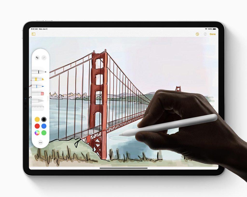 Apple iPadOS Apple Pencil New Tool Palette