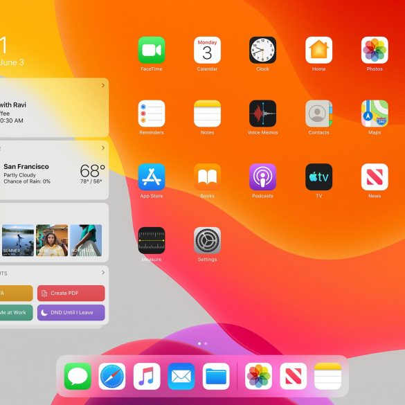 iPadOS New Home Screen