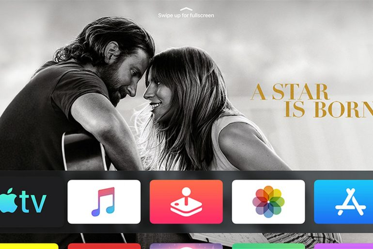 tvOS 13 new home screen with A Star Is Born