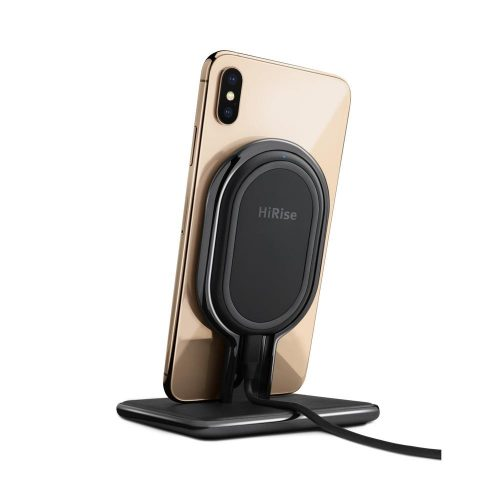 Gold iPhone XS on HiRise Wireless Charger