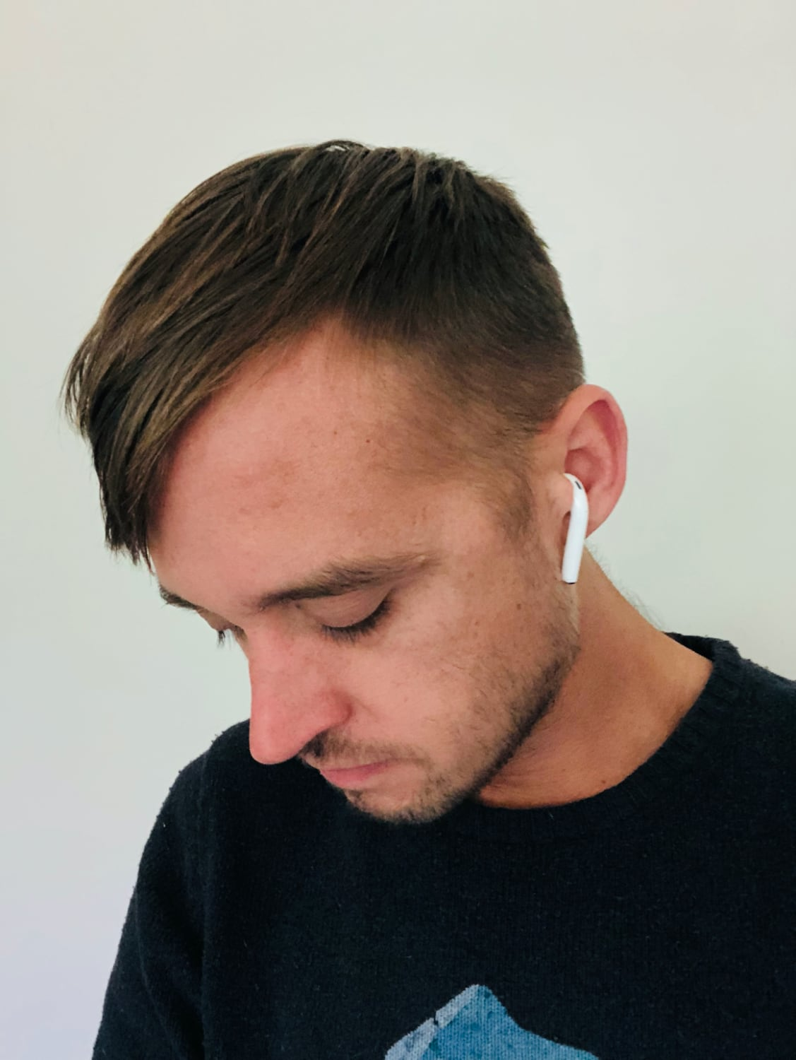 wearing second-generation wireless AirPods