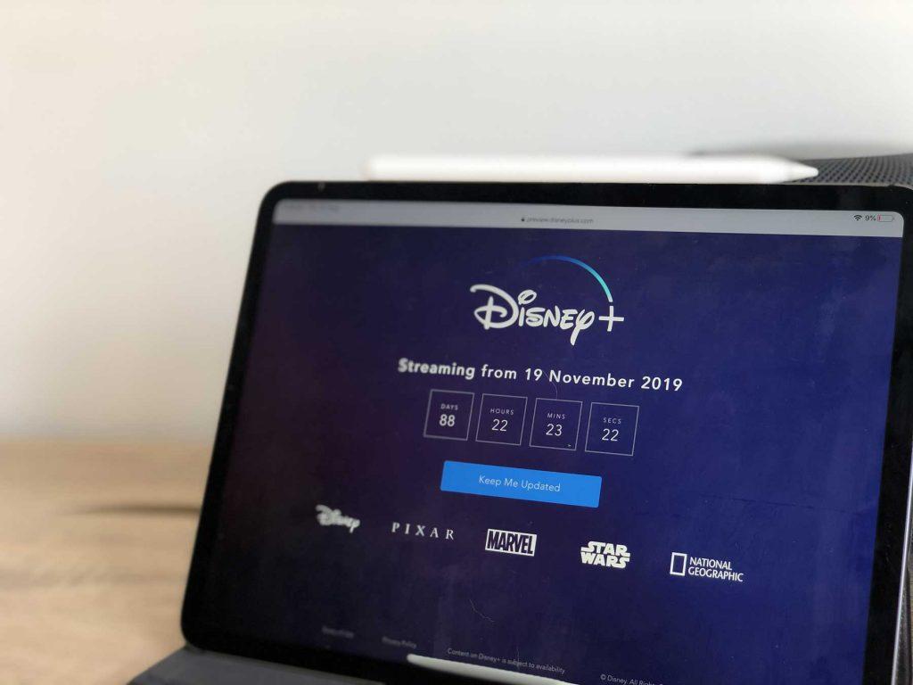 Disney Plus Streaming on iPad Pro