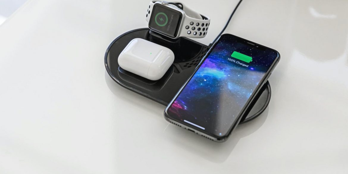mophie 3-in-1 wireless charger iphone airpods and apple watch