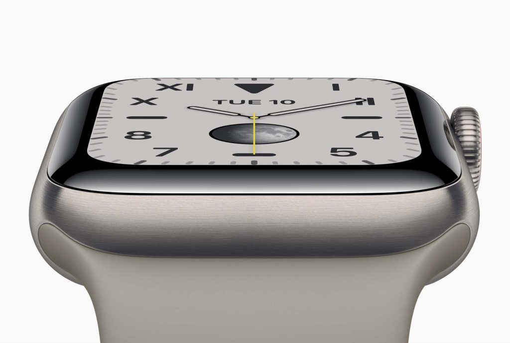 Apple Watch Series 5 new case material made of titanium