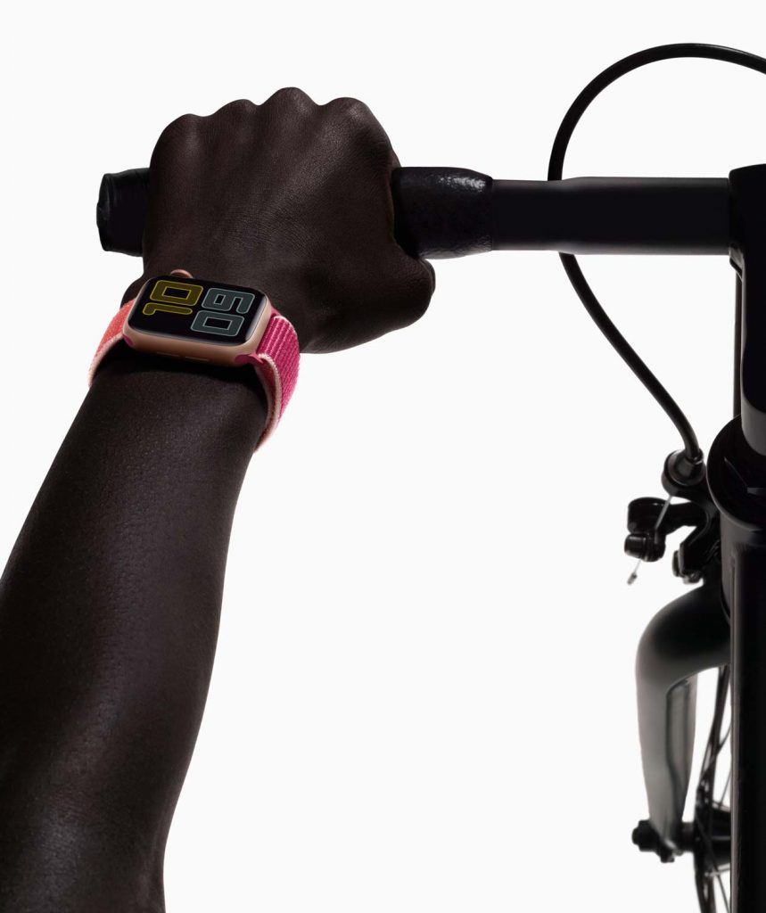 Apple Watch Series 5 with Bike Always on display