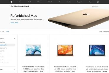 Apple MacBook Air Refurbished online store