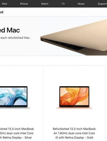 Apple MacBook Air Refurbished online store