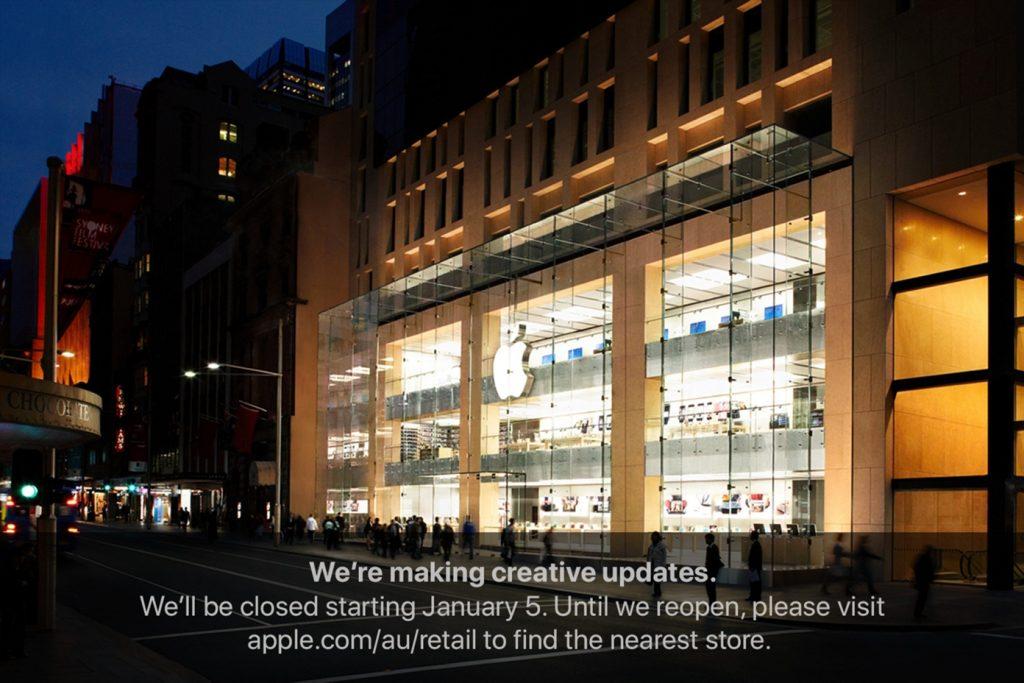 Apple Sydney Renovations Notice