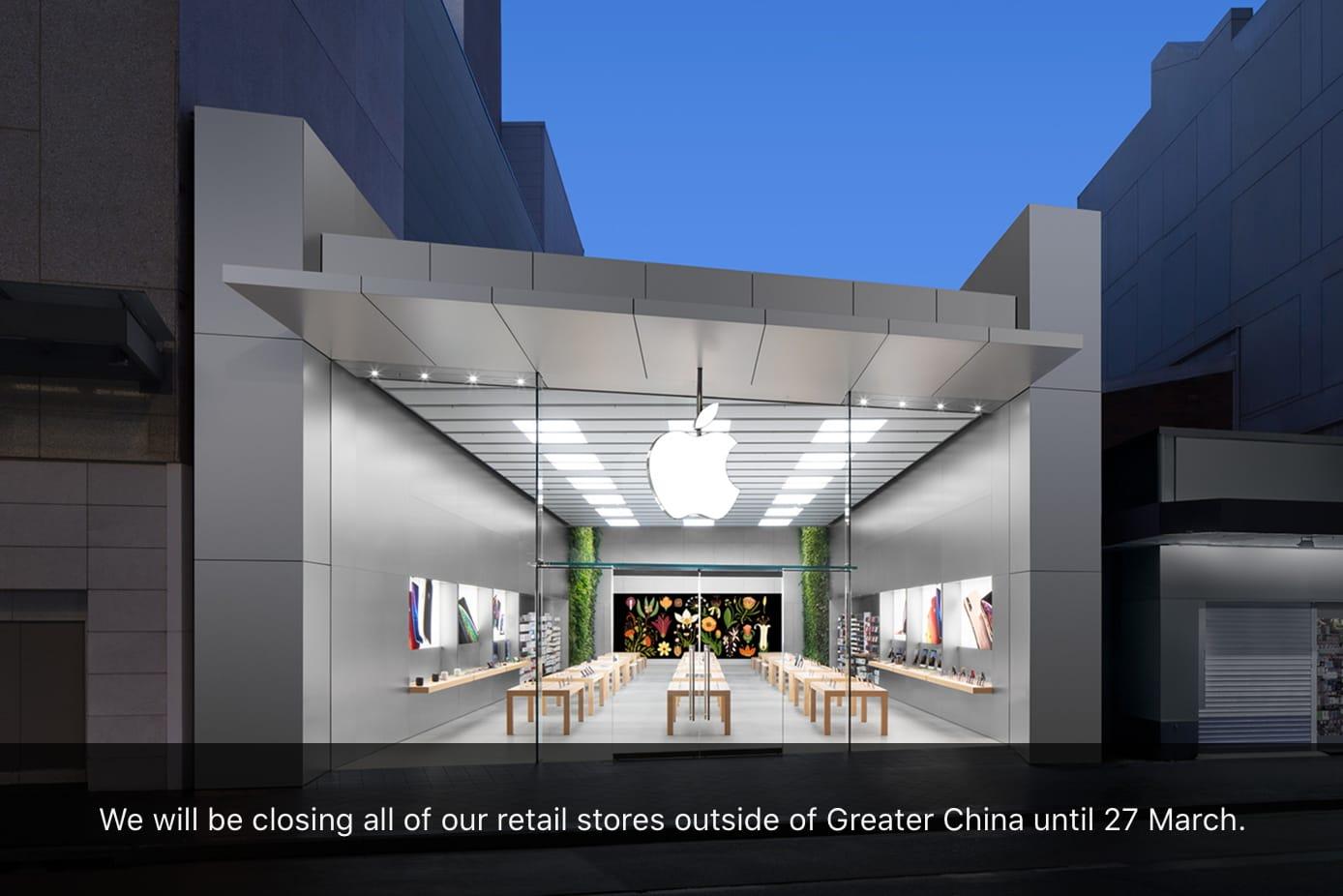 Apple Store Closures Coronavirus