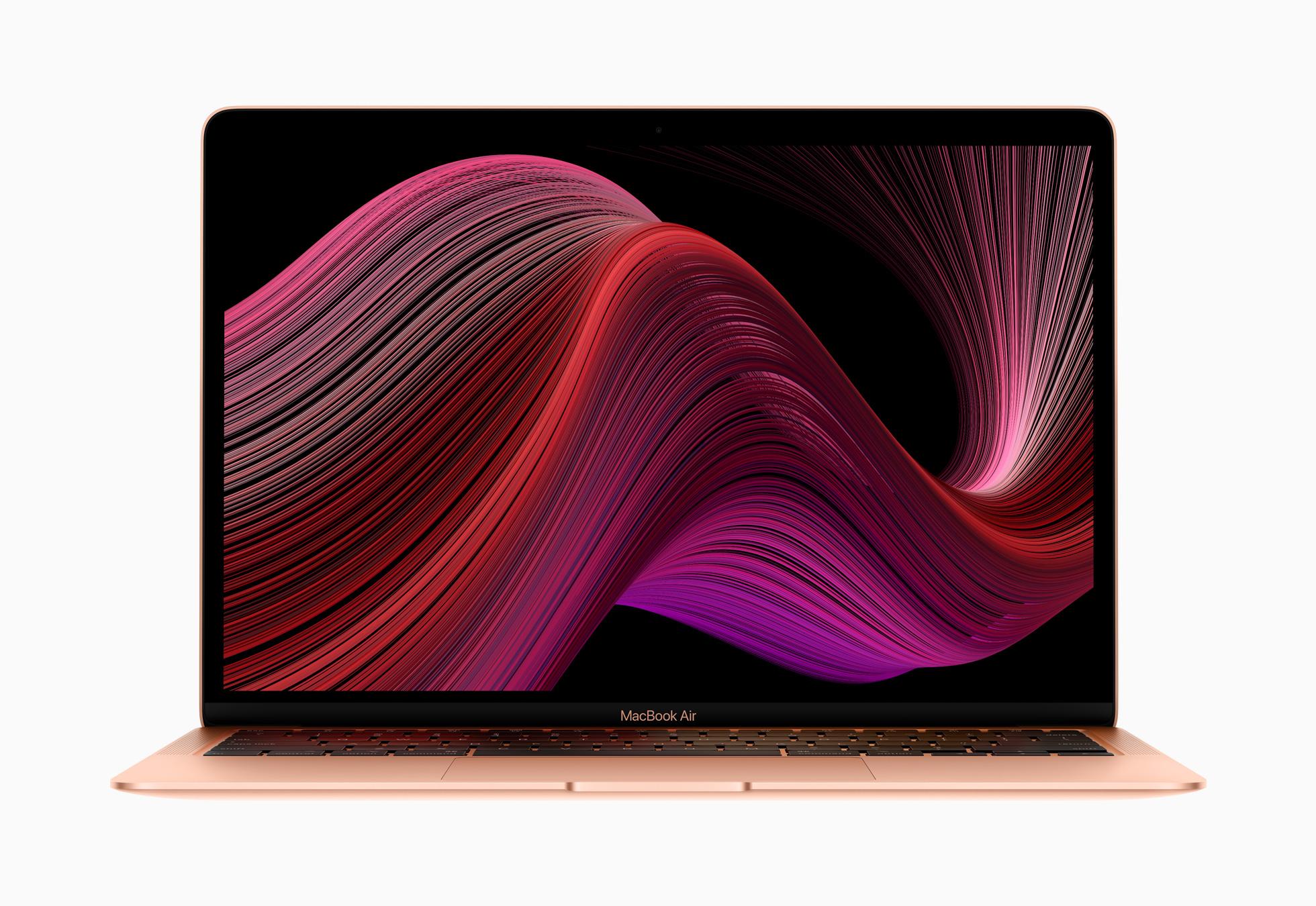 Apple new Macbook Air 2020 wallpaper screen