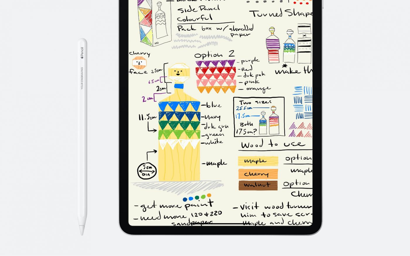 New iPad Pro 2020 with Apple Pencil and Drawing