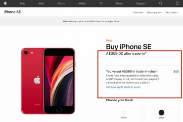 iPhone SE Trade-in Apple online
