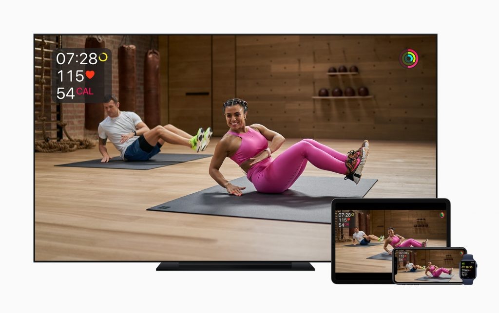 Apple Fitness Plus on Apple TV iPad Pro and iPhone
