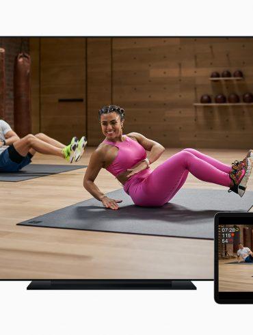 Apple Fitness Plus on Apple TV iPad Pro and iPhone